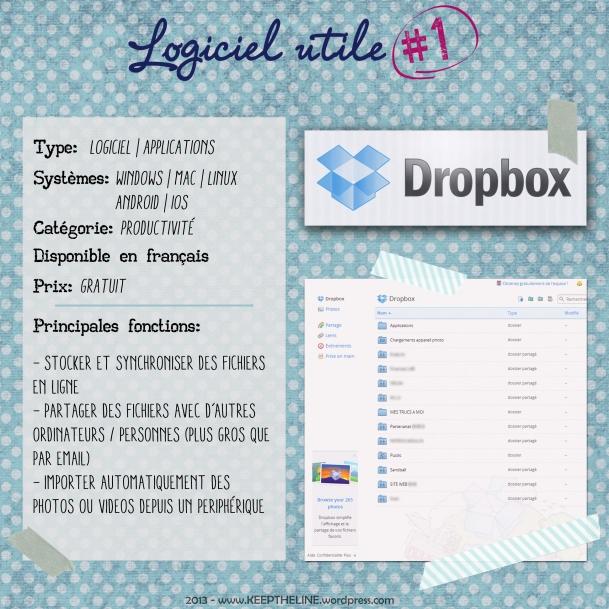 Logiciel utile 1 - Dropbox